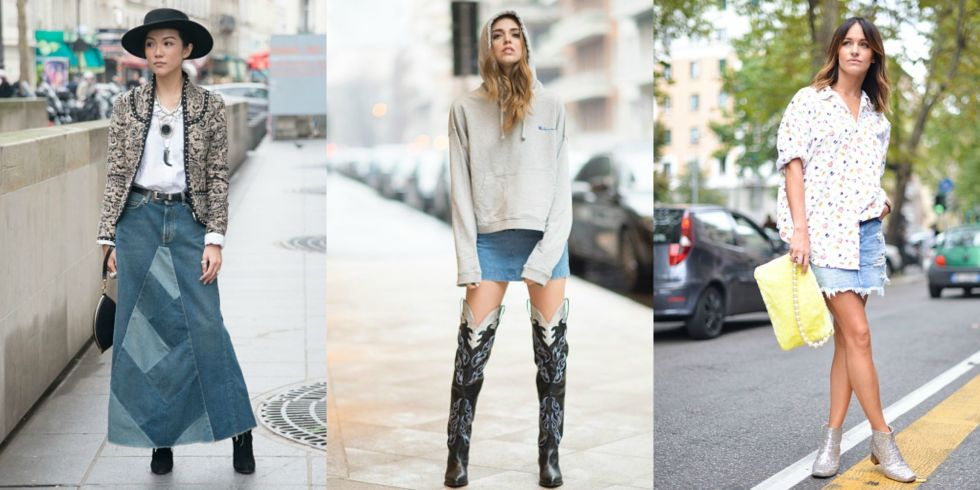 Favoloso Gonna jeans, 7 idee da copiare dallo street style MB07