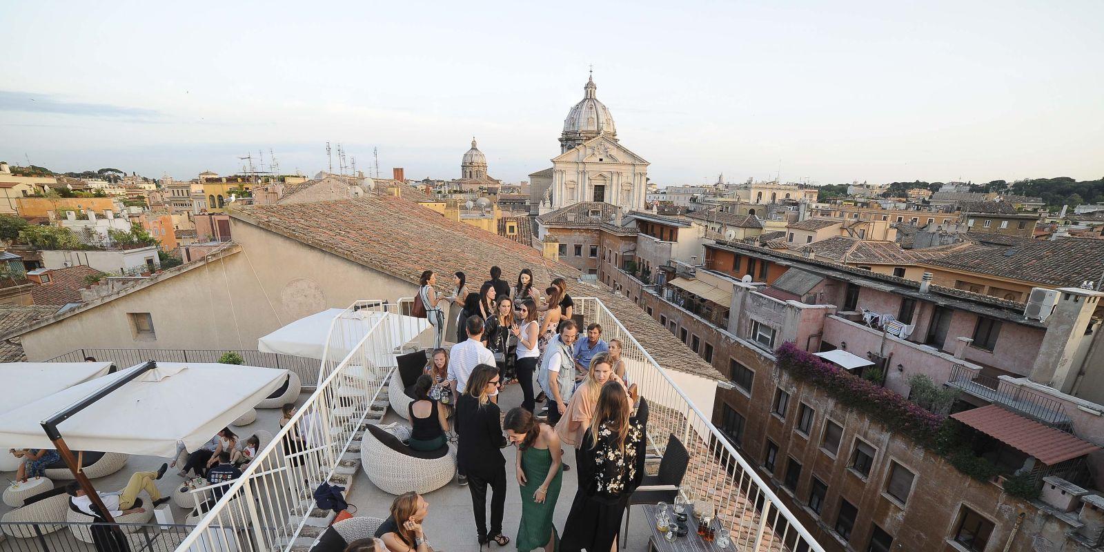 Disaronno Terrace: tutti i vip all'aperitivo più glam a Roma