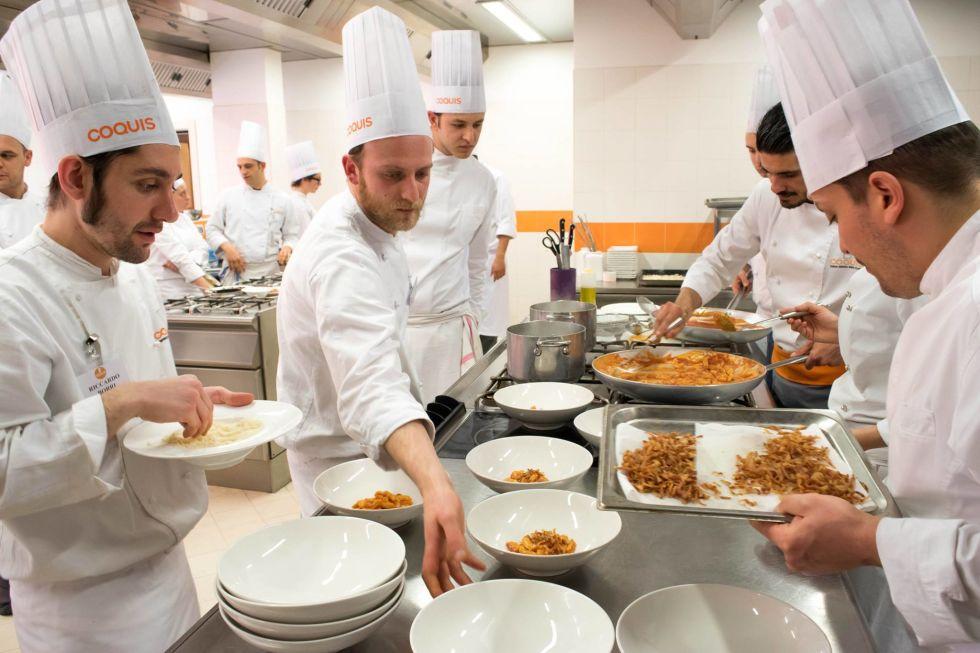 6 coquis ateneo della cucina italiana a roma