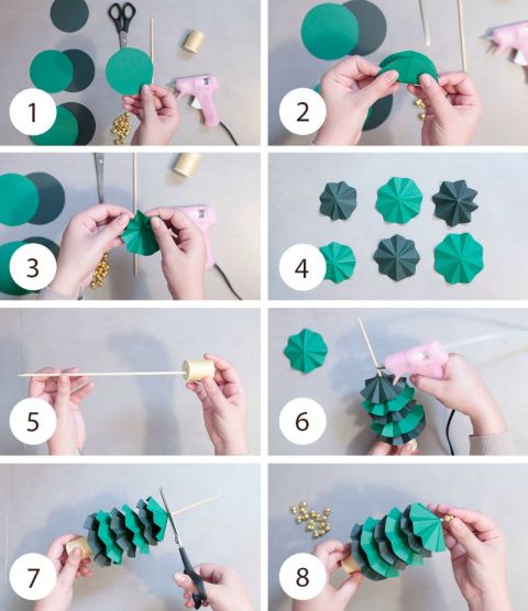 Ben noto Come fare l'albero di Natale di carta KU07