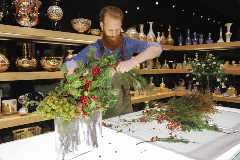 Estremamente Composizioni floreali invernali con arbusti, fiori e bacche NV27