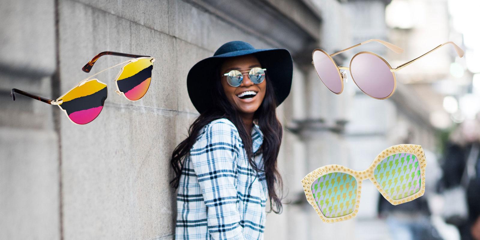 Gli occhiali da sole a specchio da donna pi belli - Occhiali da sole a specchio ...