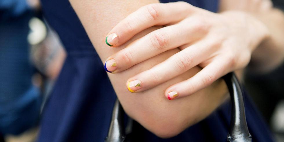 Amato Unghie french colorate: 15 immagini di nails french BD82
