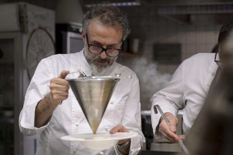 Lo chef Massimo Bottura